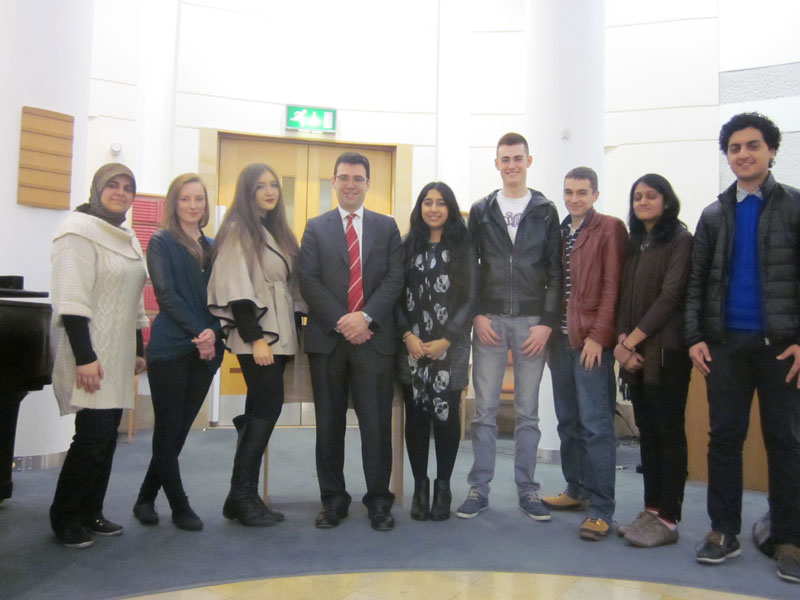 Andy Burnham Visits Abbey College Manchester Retakes Students