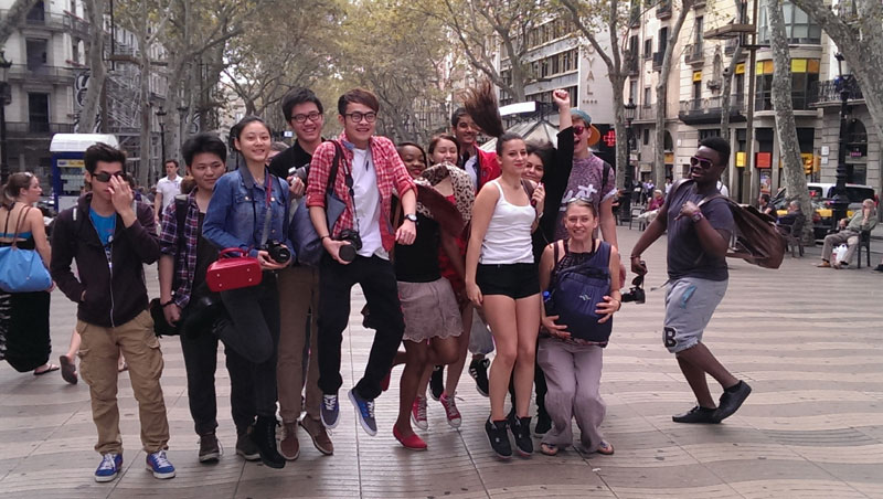 Abbey College Manchester Art Students Visit Barcelona