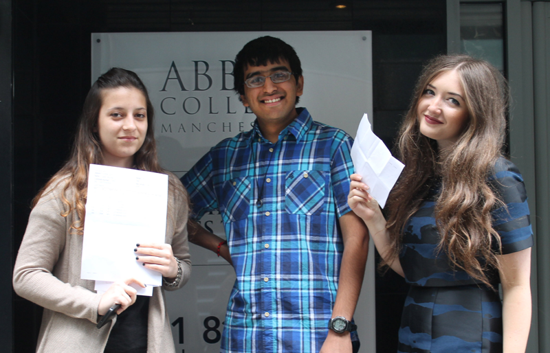 Abbey College Manchester A level Results Day