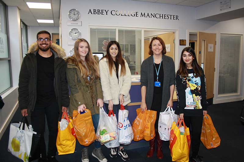 Abbey College Manchester Charity Work at Food Bank