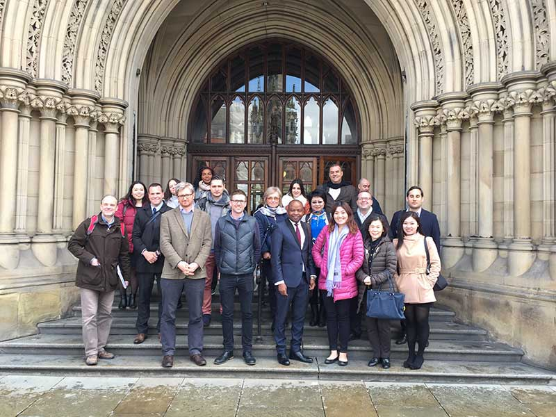 Abbey College Manchester Students Give International Guests Guided Tour