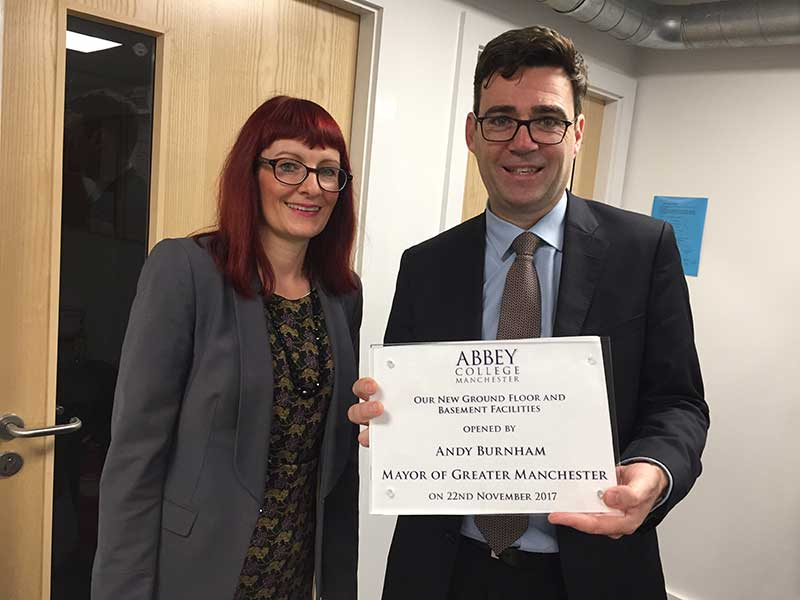Abbey College Manchester New Facilities Opening