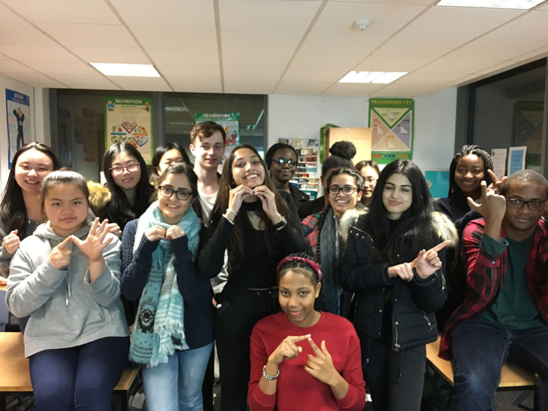 Abbey College Manchester Sign Language Students