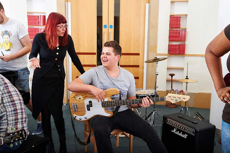 Abbey College Manchester Student Theo Plays Charity Concert