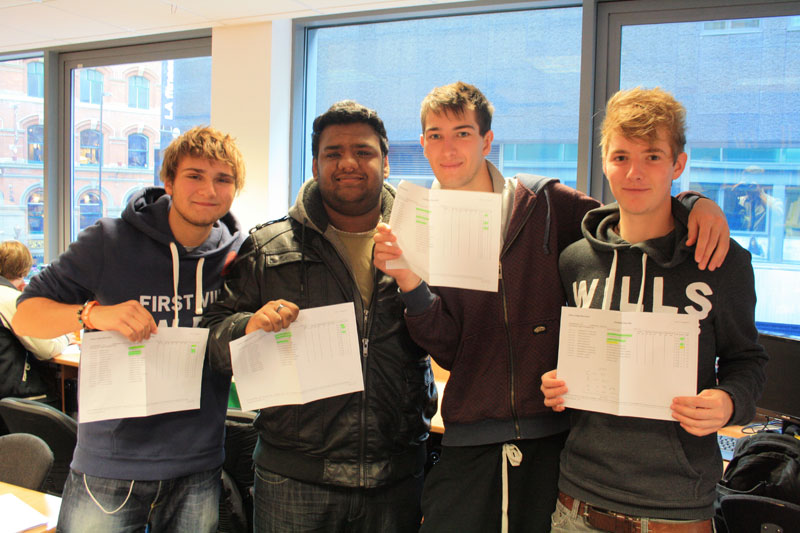 Abbey College Manchester A level Results Day 2011