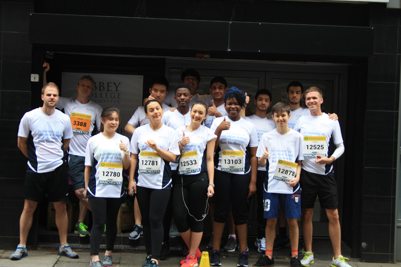 Abbey College Manchester Students at the Great Manchester Run