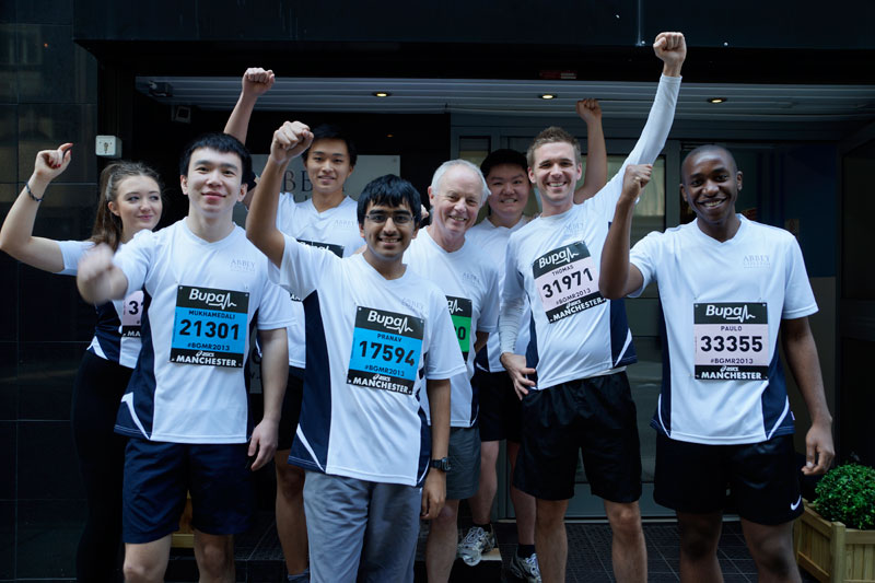 Abbey College Manchester Student Great Manchester Run Success