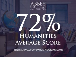 Humanities Foundation 2020 average score is 72%