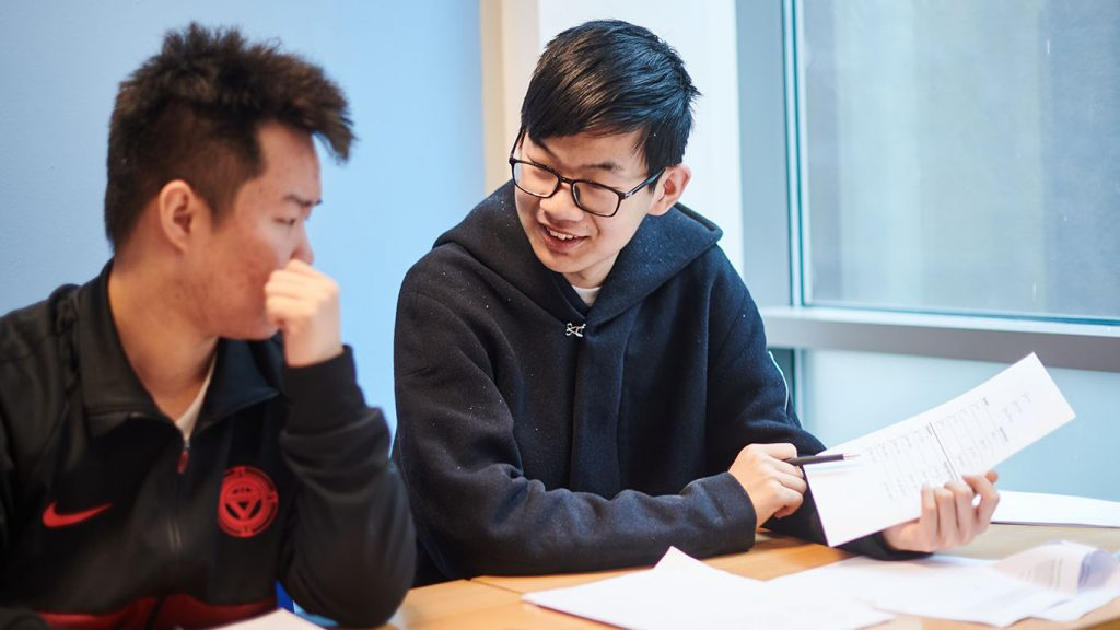 Student in GCSE class at Abbey College Manchester